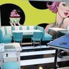 Pop Art Girl and Cupcake