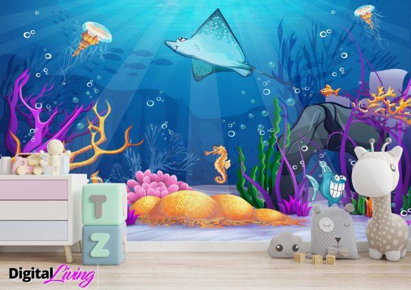 Under The Sea 1- digitalliving.ie - wall murals